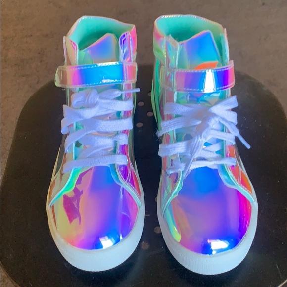 Iridescent opalescent sneaker